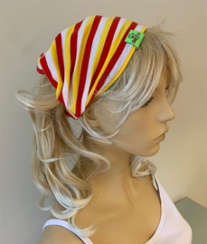 Haarband / bandana Oeteldonk rood wit geel