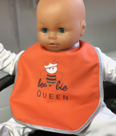 Oranje koningsdag baby slabbetje beebie Queen