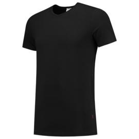 Tricorp T-shirt Elastaan slim-fit V-hals 101013 met bedrukking