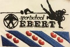 Borduren badge sportschool Ebert