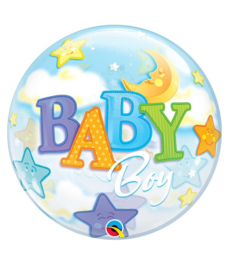 "Geboorte jongen bubble ballon ""Baby Boy"""
