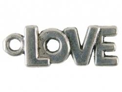 Bedel - Tekst Love metaal oudzilverkleur