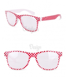 Brabant bril rood wit geblokt