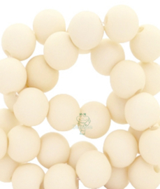 Acryl kralen mat rond 6 mm Sweet corn white
