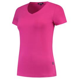 Tricorp T-shirt V-hals slim fit dames 101008/TVT190 met bedrukking