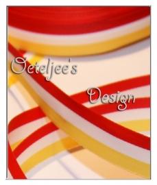 Band / lint rood wit geel Oeteldonk