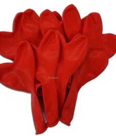 Ballonnen set rode hartjes