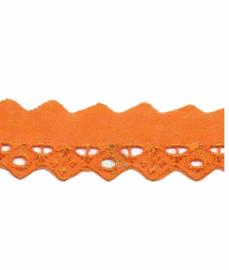 Broderie oranje 25 mm