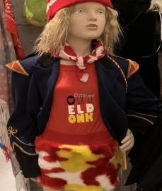 Oeteldonks bont minirokje rood wit geel kind