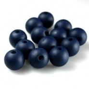 Houten kraal 6 mm donker navy blue