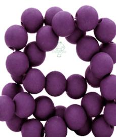 Acryl kralen mat rond 6 mm Tillandsia purple
