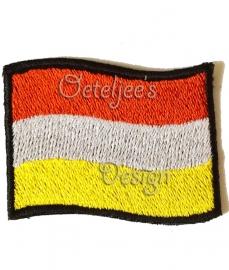 Geborduurd embleem Oeteldonkse vlag