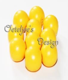 Houten kraal rond 16 mm oker geel