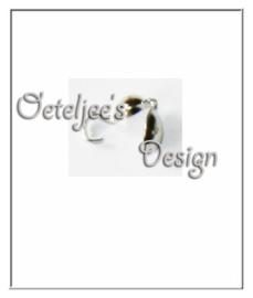 Knijpkalot met rijghaak 11 x 6 mm nikkelkleur