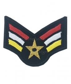 Embleem Oeteldonkse rood wit gele wings met gouden ster