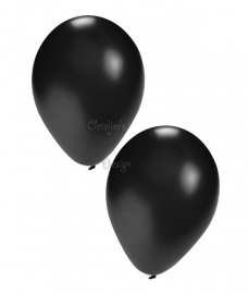 Ballonnen set zwart (50 stuks)