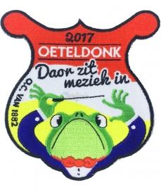 """Embleem Oeteldonksche Club 2017 """"Oeteldonk, doar zit meziek in"""" groot"""