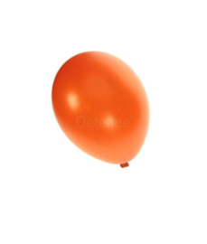 Metallic ballon oranje (10 stuks)