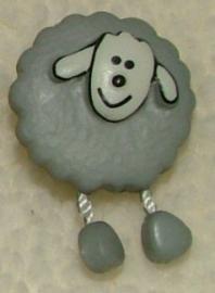 Kinderknopen - Schaapje grijs