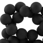 Acryl kralen mat rond 6 mm Zwart
