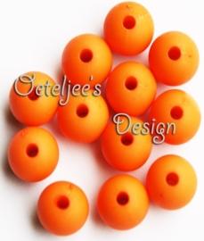 Acryl kralen Mat diep oranje  8 mm rond