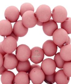 Acryl kralen mat rond 6 mm oud roze