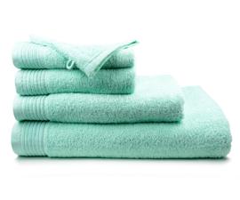 Geborduurde handdoek met eigen naam of tekst mint
