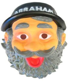 Masker Abraham met hoed, baard en snor