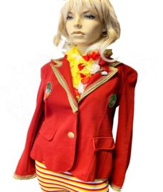 Oeteldonkse dames jas gepimpt rood maat XL - 01