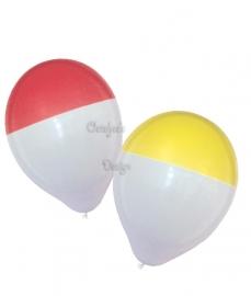 Oeteldonk bicolour ballonnen rood/wit of geel/wit