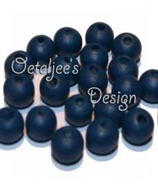 Houten kraal 8 mm navy blauw