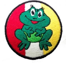 Geborduurd Oeteldonks embleem met kikker
