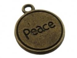 Bedel - Tekst Peace antiek brons