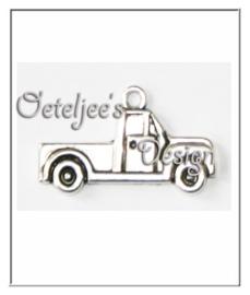 Bedel - truck metaal oudzilverkleur