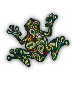 Oeteldonk embleem paisley kikker met strass steentjes