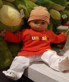 Oeteldonks rood baby / kindershirt Jungske lange mouw