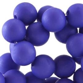 Acryl kralen mat rond 6 mm Dazzling blue