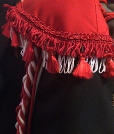 Epauletten Brabant rood wit deluxe