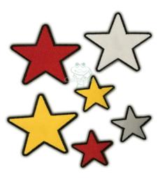 Oeteldonk emblemen set sterren (6 stuks)