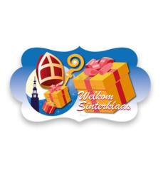 Bord welkom Sinterklaas