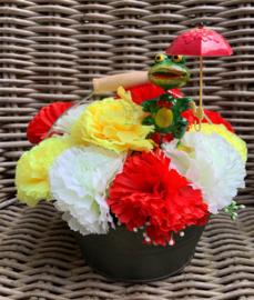 Oeteldonk decoratie bloemen met Oeteltje