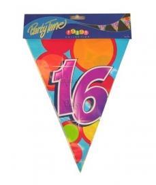 Vlaggenlijn verjaardag 16 jaar
