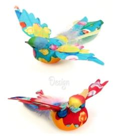 Decoratie mus met gespreide vleugels