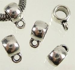 Pandora style metalen kraal met oogje 11 x 8 mm