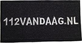 Geborduurde badge 112Vandaag.nl
