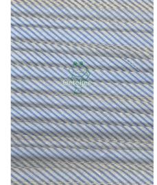 Biasband wit-blauw / gestreept - kant en klaar (10m)