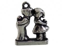 Bedel - Kussende poppetjes oudzilverkleur