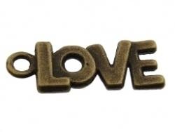 Bedel - Tekst Love metaal oudbronskleur