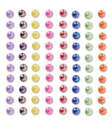 Body jewels rainbow kleuren 6 mm 80 stuks