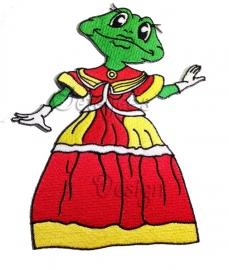 Geborduurd embleem Oeteldonk dame